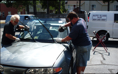 On-site windshield repair